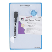 Charles Leonard, Don't Forget! Magnetic Dry Erase Board with Marker and Magnet, Blue, 6 1/4 x 9 inches