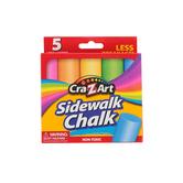 Jumbo Sidewalk Chalk, Assorted Colors, Box of 5