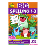 School Zone, Big Spelling 1-3 Workbook, Paperback, 320 Pages, Grades 1-3