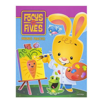 BJU Press, Focus on Fives KF Phonics Practice, 4th Edition, Paperback, Grade Kindergarten