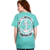 Beautifully Blessed, Jesus Anchor of My Soul, Hebrews 6:19, Women's T-Shirt, Seafoam