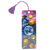 Artgame, You Are Here Outer Space 3D Lenticular Art Tassel Bookmark, 2 1/4 x 6 inches