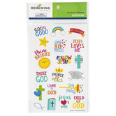 Renewing Minds, Faith Stickers, Assorted Colors, Pack of 95