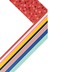 Colorfetti Collection, Wide Double-Sided Border Trim, 38 Feet, Multi-Colored Stripes and Polka Dots