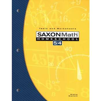 Saxon Math 5/4 Tests & Worksheets
