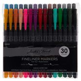 Renewing Minds, Twin Tip Fineliner Markers, Fine and Medium Point, Assorted Colors, Pack of 30