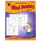 Critical Thinking Company, Mind Benders Level 5 Book, Reproducible, 48 Pages, Grades 7-12 and Adults