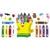 TREND, Colorful Crayons Bulletin Board Set, 21 Pieces