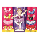 Melissa & Doug, Ballerina Dress-Up Mix N Match Peg Wooden Puzzle, Ages 2 to 4 Years Old, 10 Pieces