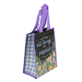 Renewing Faith, Matthew 19:26 All Thins Are Possible Small Gift Bag, 8 1/2 x 6 1/2 x 4 inches