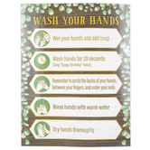 Teacher Created Resources, Eucalyptus Wash Your Hands Chart, Green, Brown, White, Gold, 17 x 19 Inches
