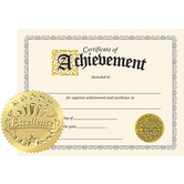 TREND, Certificate of Achievement with Seals, 11 x 8.5 Inches, Pack of 30