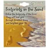 Abbey and CA Gift, Footprints In The Sand Lapel Pin, Gold-tone, 1 x 1/4 inches