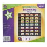 Teacher Created Resource, 4-Scene Sequencing Pocket Chart Cards, 138 Pieces, Grades PreK-1