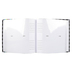 Brother Sister Design Studio, Black and White Cloth Photo Album, 9.25 x 8.50 Inches, 160 Photo Slots