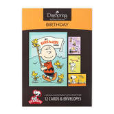 DaySpring, Peanuts Birthday Boxed Cards, 3 Each of 4 Designs
