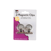 Charles Leonard, Magnetic Clips, Silver, 1 1/4 inches Each, Set of 2