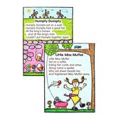 Carson-Dellosa, Nursery Rhymes: Kid-Drawn Bulletin Board Set, 17 x 24 inch Charts, 8 Pieces