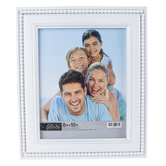 Green Tree Gallery, White Wood Beaded Tabletop Photo Frame, 11.75 x 14 Inches