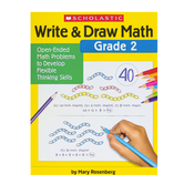 Scholastic, Write and Draw Math Grade 2 Activity Book, Paperback, 64 Pages, Second Grade