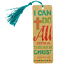 Salt & Light, Philippians 4:13, I Can Do All Things Tassel Bookmark, 2 1/4 x 7 inches