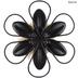 Metal Art, Metal and Burlap Blossom, Sage and Natural Burlap, 7 inches