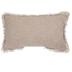 Cozy Slub Knit Rectangle Pillow, Cotton, Brown and Cream, 16 x 26 x 7 inches