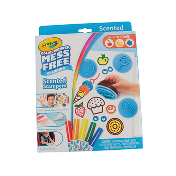Crayola, Color Wonder Mess Free Scented Stampers and Markers Kit, Assorted, 24 Count, Ages 3-8