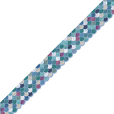 Renewing Minds, Mermaid Scales Die Cut Trimmer, 38 Feet, Ombre and Sparkle Cool Colors