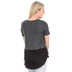 NOTW, Hope Anchors the Soul, Women's Color Block Tunic Fashion Top, Black and Gray, X-Small