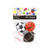 Tree House Studio, Sports Ball Shaped Felt Stickers, 24 Pieces