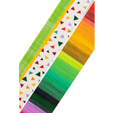 Color Me Brilliant Collection, Wide Double-Sided Border Trim, 38 Feet, Confetti and Rainbow Stripes