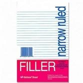 "Filler Paper 8 1/2"" x 5 1/2"""