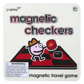Toysmith, Magnetic Checkers Travel Game, 5 1/2 inches