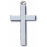 H.J. Sherman, Sterling Silver Block Cross Pendant Necklace, 24 inches