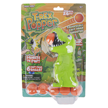 Hog Wild Toys, T-Rex Dino Popper, Ages 4 years and Older, 7 Pieces