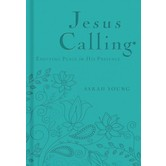 Jesus Calling 365 Daily Devotional Deluxe Edition by Sarah Young, Imitation Leather, Teal