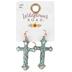 Wildflower Road, Patina and Copper Cross Dangle Earrings, Zinc Alloy, Copper