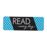 Isabella Collection, Read Bookmarks, Blue Quatrefoil, 2 x 6 inches, Pack of 36