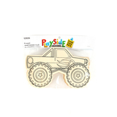 Playside Creations, Wood Monster Truck Kit, Natural, 6 Count