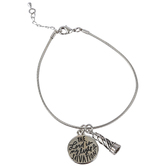 Bella Grace, The Lord Is My Light & Salvation Charm Bracelet with Lighthouse, Zinc Alloy, Silver