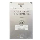 D&D, Black Sand & Cashmere Luxury Aromatic Sachets,  3/4 ounce Each, Set of 3
