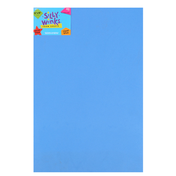 Silly Winks, Thick Foam Sheet, 12 x 18 inches, Royal Blue