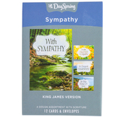 DaySpring, In Deepest Sympathy Landscapes Sympathy Boxed Cards, 12 Cards with Envelopes