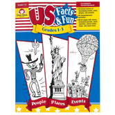 Evan-Moor, U.S. Facts and Fun Teacher Resource, Reproducible, 192 Pages, Grades 1-3