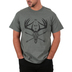Red Letter 9, All I Need Is God Family and Hunting, Men's Short Sleeve T-Shirt, Military Green Heather, Small