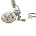 H.J. Sherman, 2 Corinthians 5:7 Walk By Faith Double Strand Bangle Charm Bracelet, Rhodium Plated, Silver