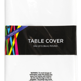 Brother Sister Design Studio, Plastic Table Cover, White, Round, 84 Inch Diameter, 1 Each