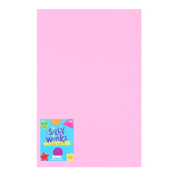 Silly Winks, Foam Sheet Pack, 12 x 18 inches, Assorted Pastels, 12 count