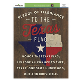 Renewing Minds, Pledge to the Texas Flag Chart, 17 x 22 Inches, 1 Piece